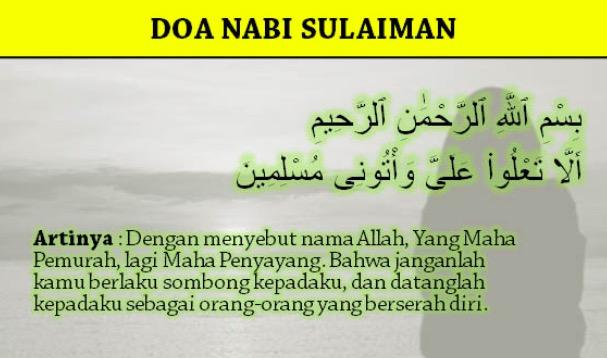 Inilah Doa Nabi Sulaiman Dalam Al Quran Untuk Jadi Kaya Dan